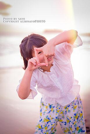 ポートフォリオ用海辺の女の子写真