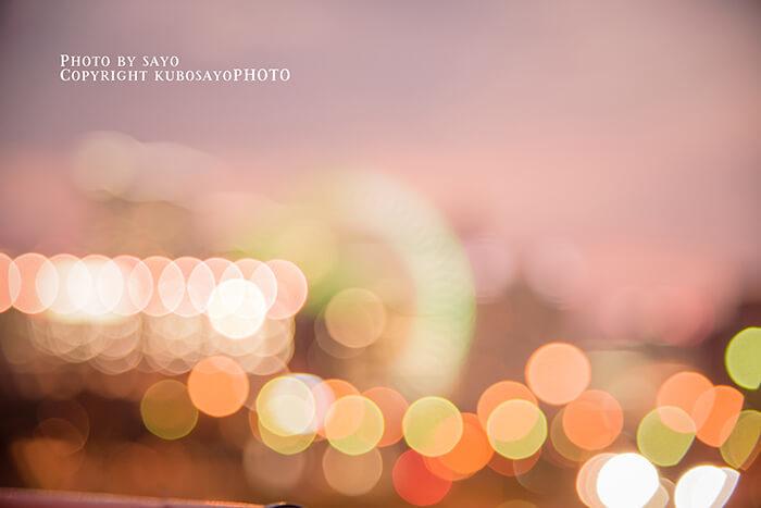 ポートフォリオ用光の観覧車写真